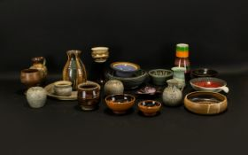Collection of Vintage Studio Art Style Pottery to include vases, jugs, plates, bowls etc.