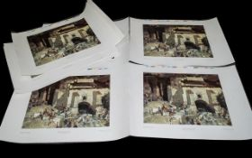 Set of Colour Prints by Sir William Russell 'The Festival of Santa Eulalia, Andalusia, Spain.