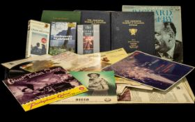 Collection of Albums & Vintage Books to include a complete set of four volumes of the Gilbert &