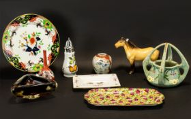 Collection of Porcelain, Pottery & Glass to include a Wedgwood for Children in Crisis 2002 square