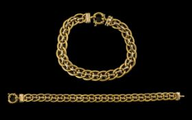 18ct Gold Attractive Good Quality Link Bracelet of Pleasing Proportions - marked 750 to bracelet.