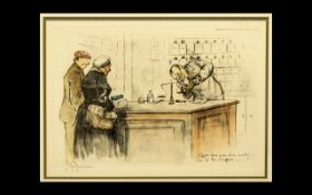 Gaston Hoffmann (1883 - 1960) Original Signed Lithographs. Glazed, mounted and framed. Depicting '