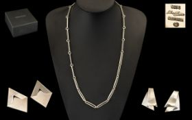Georg Jensen Jewellery To Include A 26 Inch Sterling Silver Necklace, Design No 195A Cable Chain.