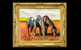 Oil Painting by Hadrian Richards 'Grazing'.