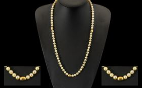 Pearl Statement Necklace With 18ct Gold Spacers.