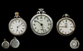 Swiss Made Nice Quality 1920's Silver Cased Open Faced Ladies Pocket Watches (2) in total.