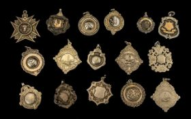 A Collection of Early to Mid 20thC Sterling Silver Medals.