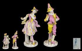Samson Paris 19th Century Fine Quality Pair of Hand Painted Porcelain Figures,