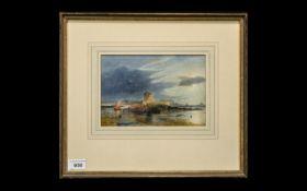 Ward Coastal Landscape Watercolour, probably Harry Ward, (1844 - 1873).