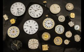 A Collection of 20+ Loose Watch Movements makers to include Omega, Waltham, Tudor Rolex, Etna,