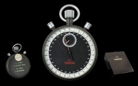 Omega Olympic Rare 1960's Mechanical Winding Stop Watch with 12 hour dial split subsidiary seconds