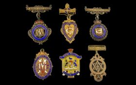 Masonic Interest A Good Collection of Early 20thC Silver Gilt Masonic Medals/Bars. Various lodges.