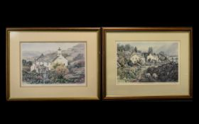 Four Judy Boyes Signed Prints comprising 'Auntie's Cottage at Eskdale Green' No.