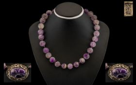 19th Century Chinese Amethyst Necklace.