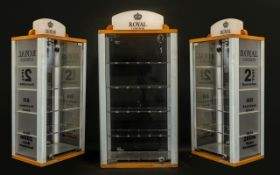 Royal London Nice Quality Shop Display Glass Fronted and Back Cabinet - fitted with 4 glass display