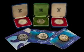 Royal MInt Proof Struck Britannia Silver Two Pound Coin - 1 oz of Fine Silver,