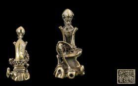 Japanese Late 19th Century Figure of unusual form of a skeletal-emaciated elderly man or sage,