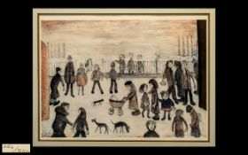 L S Lowry 1887-1976 Unsigned Limited and Numbered Edition Colour Print/ Lithograph titled 'The Park;