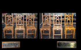 Arts & Crafts Golden Oak Chairs.