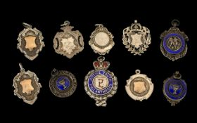 Collection Of Silver Hall Marked Fobs.