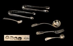 A Collection of Antique Period Small Silver Flatware Pieces all Fully Hallmarked. Comprises 1/
