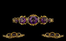 Victorian Period 1837-1901 Superb Quality Ornate 9ct Gold Natural Leaf Decorated Ladies Bracelet.