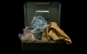 A Strong Box containing a quantity of mostly low value GB coins to include Commerative crowns,