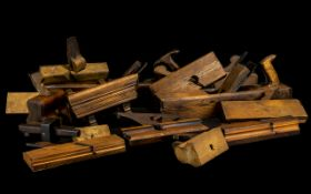 Collection Of Wooden Planes and Woodwork