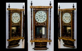 French Late 19th Century Inlaid Wooden W
