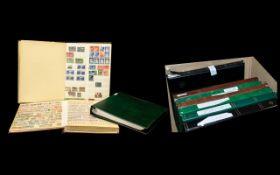 Large cardboard box containing ten stamp