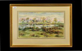 Framed Watercolour by J K Bishop of Knuz