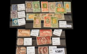3 Stamp Stock Cards with higher value st
