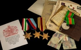 WW2 Medal Group And Associated Paperwork