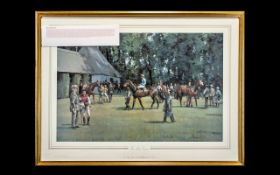 "Horse racing limited edition print. ""The"