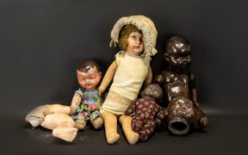 Dolls - Collection of Four 1920/30's Vin