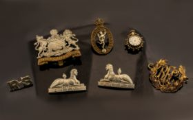 Mixed Lot Of 5 Badges, Two Marked Egypt,