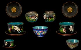 19th Century Cloisonne Cups & Vases & sa