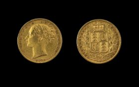 Queen Victoria 22ct Gold Full Sovereign