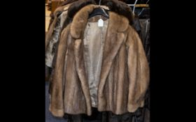 Blond Mink Jacket with collar and revere