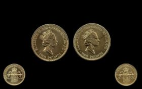 Two Uncirculated British Two Pound Coins