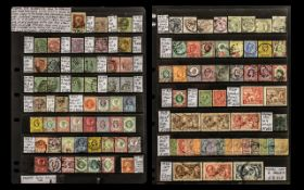 Collection of Stamps GB on Two Hagners.