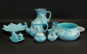 Collection of Wade Blue Turquoise Potter