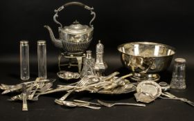 Collection Of Silver Plate.