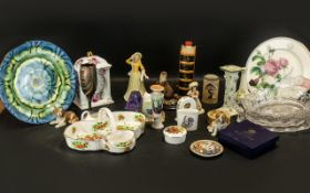 Collection of Pottery & China to include Leonardo Collection china clock;