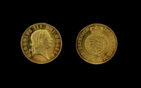 George III 22ct Gold Proof - Like Full Military Guinea - Date 1813.