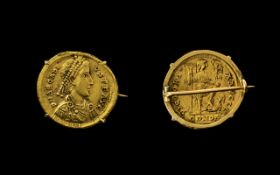Late Roman Empire Near Pure Gold Coin called a Solidus - 23ct plus.