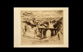 Joseph Pennell American Artist (1860-1926) Original Plate titled 'Bridge of St.