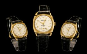 Freeson - Swiss Made 1940's 9ct Gold Mechanical Wind Wrist Watch,