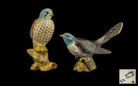 Beswick Bird Figure ( 2 ) Includes 1/ Kestrel, Model No 2316, Designer Graham Tongue.
