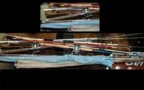 Large Quantity Of Vintage Fishing Rods.